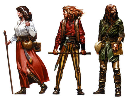 beard boots brunette cane cudgel dnd group long_skirt skirt sword the_dark_eye vest // 700x544 // 106.6KB