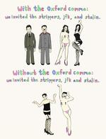 comic grammar jfk oxford_comma stalin strippers // 800x1046 // 144.7KB