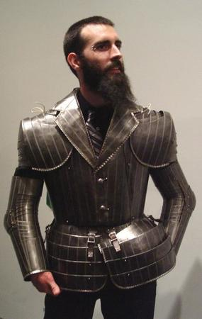 armor beard necktie photo suit // 450x711 // 36.0KB
