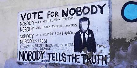 hooray_cynicism nobody photo political sign // 666x332 // 26.5KB