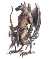 archon arrows bow dnd tony_diterlizzi wings wolf // 497x591 // 287.3KB