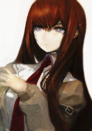 blue_eyes makise_kurisu necktie redhead steins_gate // 1280x1814 // 782.2KB