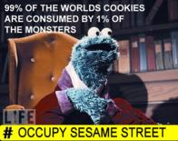99 cookie_monster occupy_wall_street sesame_street // 380x301 // 225.1KB