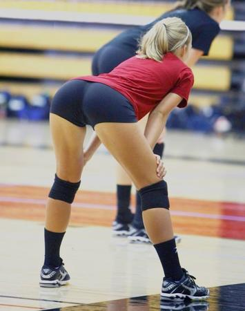 blonde butt photo ponytail shorts short_shorts volleyball // 500x633 // 39.5KB