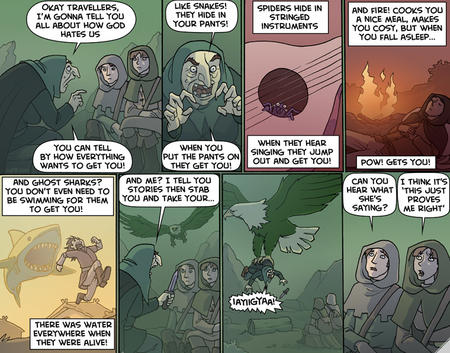 comic eagle humor oglaf sharks snakes spiders // 760x596 // 175.2KB