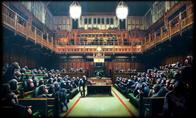 banksy britain chimpanzee parliament political // 1373x825 // 150.1KB