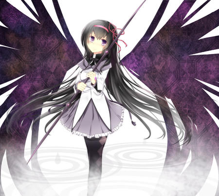 akemi brunette dress long_hair puella_magi_madoka_magica wings // 2687x2400 // 2.2MB