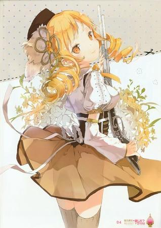blonde dress hat puella_magi_madoka_magica rifle thighhighs tomoe_mami twintails // 424x600 // 49.6KB