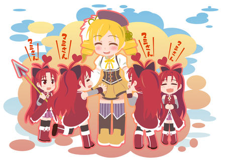 blonde boots dress hat long_hair puella_magi_madoka_magica redhead thighhighs tomoe_mami twintails // 1200x848 // 485.8KB