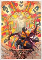 batgirl blonde cape dc stained_glass // 800x1146 // 1.7MB