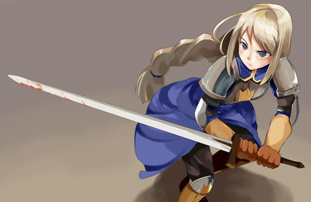 agrias blonde blue_eyes braids fft final_fantasy gauntlets sword // 850x552 // 88.9KB