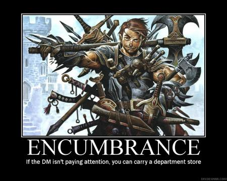 dnd encumbrance humor motivational // 750x600 // 118.2KB