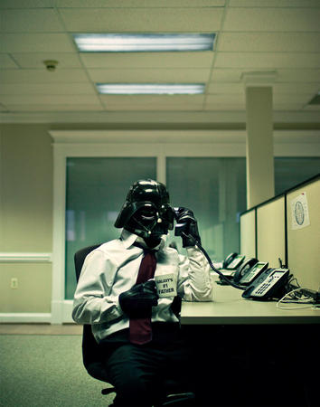 coffee darth_vader necktie office phone photo // 600x762 // 82.3KB