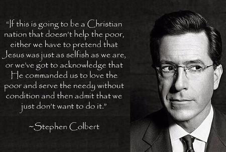 bw glasses necktie quote stephen_colbert suit // 661x444 // 72.7KB