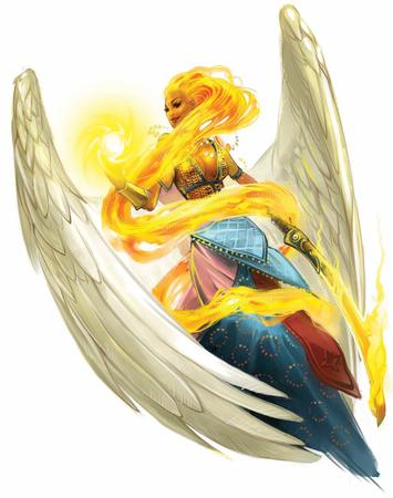 dress fire paizo pathfinder sarenrae wings // 1184x1500 // 132.0KB
