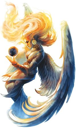 dress fire globe paizo pathfinder sarenrae wings // 594x1000 // 99.4KB