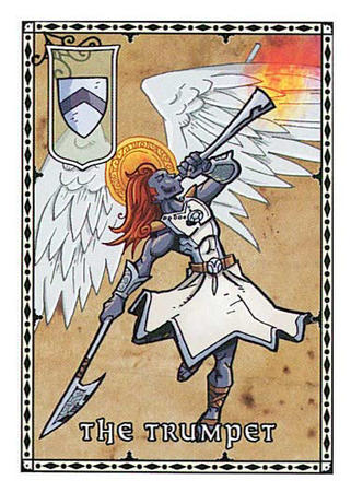 angel card halo harrow horn paizo pathfinder redhead trumpet wings // 375x525 // 63.8KB