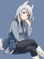 boots jacket strike_witches tail white_hair wolf // 650x875 // 135.0KB