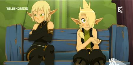 blonde braids cleophee cra evangeline gloves green_eyes screenshot wakfu // 913x451 // 576.3KB