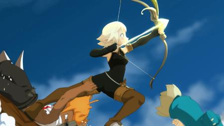 arrow blonde boots bow cra evangeline gloves green_eyes iop sadlygrove screenshot thighhighs wakfu // 1920x1080 // 243.2KB