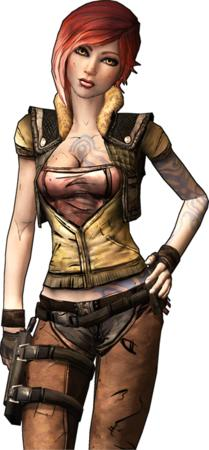 borderlands cg chaps cleavage gloves lilith pink_hair vest // 340x732 // 352.8KB