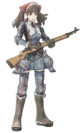 boots brunette gloves rifle thighhighs twintails uniform valkyria_chronicles // 600x1000 // 81.9KB