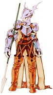 armor cape dragoon fft final_fantasy helmet lance spear // 500x900 // 105.4KB