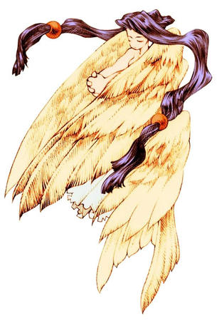 brunette fairy fft final_fantasy long_hair wings // 420x620 // 67.9KB