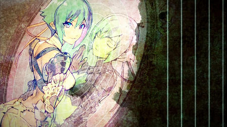 aquarion_evol blue_eyes desktop green_hair mirror zessica // 1920x1080 // 445.0KB