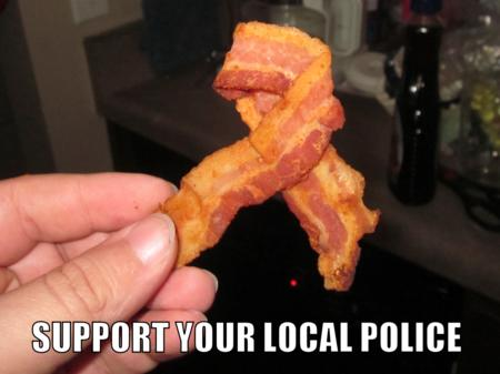bacon macro photo police ribbon // 1000x749 // 1.1MB