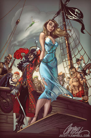 captain_hook cleavage dress mary peter_pan pirate scott_campbell sword // 563x859 // 168.2KB