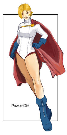 blonde boots cape dc gloves power_girl // 450x900 // 102.2KB