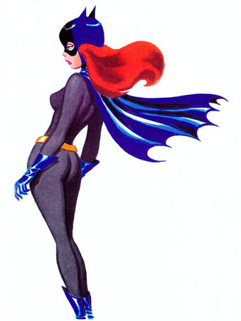batgirl blue_eyes bruce_timm cape cowl gloves redhead // 700x928 // 76.7KB