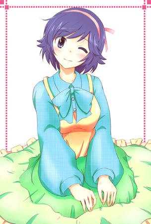 blue_hair brunette dress takayama_ayumi the_world_only_god_knows wink // 600x888 // 136.4KB