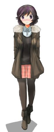 blush boots brunette jacket short_skirt skirt sweater takayama_ayumi the_world_only_god_knows // 400x975 // 240.7KB