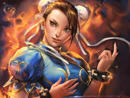 brown_eyes brunette chun-li desktop street_fighter // 2000x1500 // 1.2MB