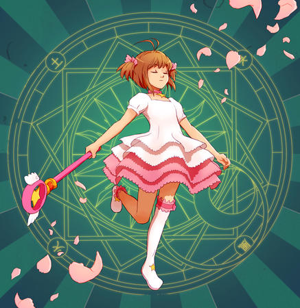 card_captor_sakura dress sakura wand // 972x1000 // 847.3KB