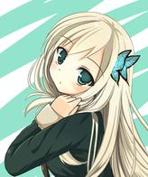 blonde boku_wa_tomodachi_ga_sukunai butterfly green_eyes jacket kashiwazaki_sena school_uniform // 431x514 // 138.5KB