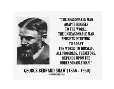 bw george_bernard_shaw progress quote reasonable // 500x392 // 22.5KB