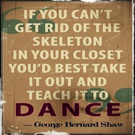 bw dance george_bernard_shaw quote skeleton // 500x500 // 46.2KB