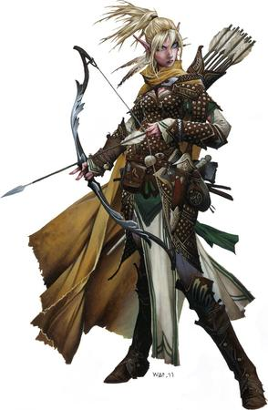 arrors blonde blue_eyes boots bow cape elf paizo pathfinder // 653x1000 // 151.8KB