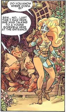 blonde blue_eyes boots cleavage comic // 342x577 // 73.9KB