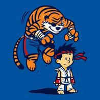 barefoot calvin eyepatch gi glvoes hobbes ryu sagat shorts street_fighter tail tiger // 500x500 // 54.9KB