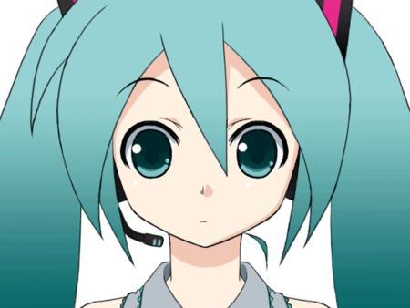 animated green_eyes green_hair reaction vocaloid // 560x420 // 538.6KB