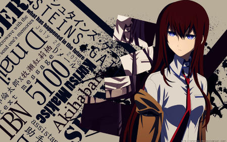 blue_eyes desktop makise_kurisu necktie redhead steins_gate // 1920x1200 // 1.3MB