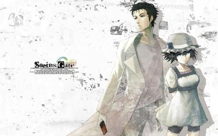 blue_eyes desktop dress hat jeans kyouma lab_coat shiina shorts steins_gate tee-shirt // 1500x938 // 354.3KB