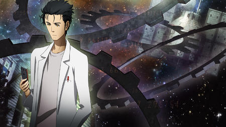 brunette cellphone desktop kyouma lab_coat steins_gate // 1920x1080 // 1.1MB