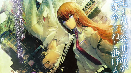 blue_eyes desktop kyouma lab_coat long_hair makise_kurisu necktie redhead steins_gate sweater // 1920x1080 // 1.3MB