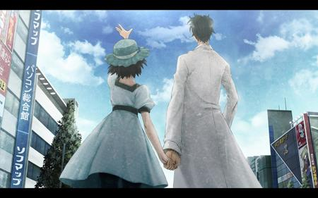 brunette dress hat kyouma lab_coat shiina steins_gate // 1680x1050 // 164.5KB