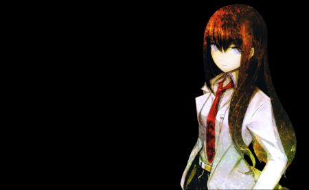 blue_eyes desktop lab_coat long_hair makise_kurisu necktie redhead steins_gate // 1680x1035 // 1.1MB